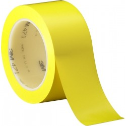 3M Vinyl Tape 471 Yellow, 2 in x 36 yd, tebal: 0.14 mm - Vinyl Lane Marking Tape Warna Kuning