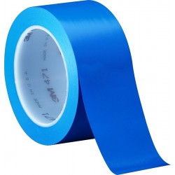 3M Vinyl Tape 471 Blue, 2 in x 36 yd, tebal: 0.14 mm