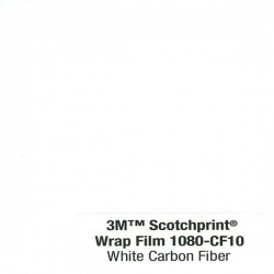3M Car Wrap Film 1080-CF10 - White Carbon Fiber