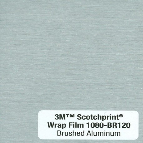 3M Car Wrap Film 1080 – BR120 Brushed Aluminium