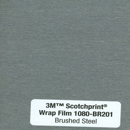 3M Car Wrap Film 1080 – BR201 Brushed Steel
