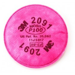 3M™ Particulate Filter 2091, P100 Respiratory Protection