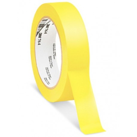 3M Vinyl Tape 764 Yellow, 1 in x 36 yd, tebal: 0.125 mm