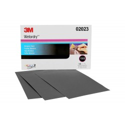 3M 401Q Wet or Dry Paper Sheet, grade: P1500, size: 5 1/2 in x 9 in, 50 sheets/sleeve (Amplas)
