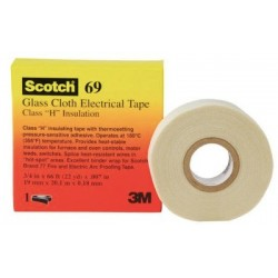 Scotch® Glass Cloth Electrical Tapes 69 - 18 mm x 66 ft - scotch glass cloth tape