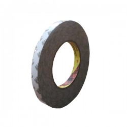 3M 9075i / 7385C Double Coated Tissue Tape, tebal: 0.085 mm, size: 12 mm x 50 m
