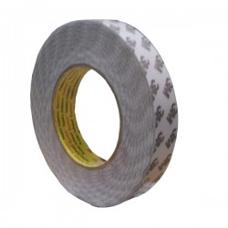3M 9075i / 7385C Double Coated Tissue Tape, tebal: 0.085 mm, size: 24 mm x 50 m