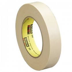 3M Scotch High Performance Masking Tape 232 Natural, 24 mm x 55 m