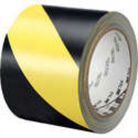 "3M Industrial - Hazard Marking Vinyl Tape 766 3M Hazard Warning Tape 7 66 Black/Yellow 2""X36 Yd"