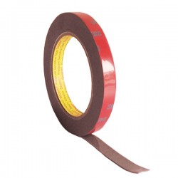 3M AFT Acrylic Foam Tape 5666, tebal: 1.1 mm, size:12 mm x 4.5 m (Double Tape Mobil)