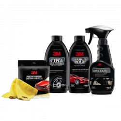 PAKET WASHING (3M Micrifiber Detail Cloth, 3M Tire Restorer, 3M Premium Wax, 3M Interior & Engine Dressing)