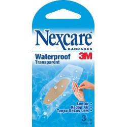 Nexcare Bandages Waterproof Transparent - 1 pack isi 3 plaster