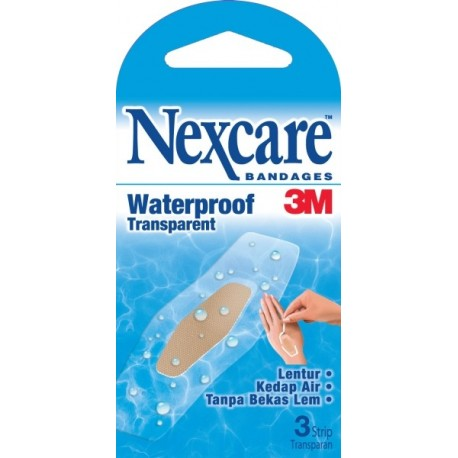Nexcare Bandages Waterproof Transparent 24PK/BX, 6BX/CT