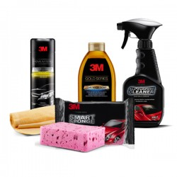 PAKET WASH Perawatan Mobil (3M Premium Car Wipe, Smart Sponge, Car Wash Soap Gold Series, All Purpose Cleaner)