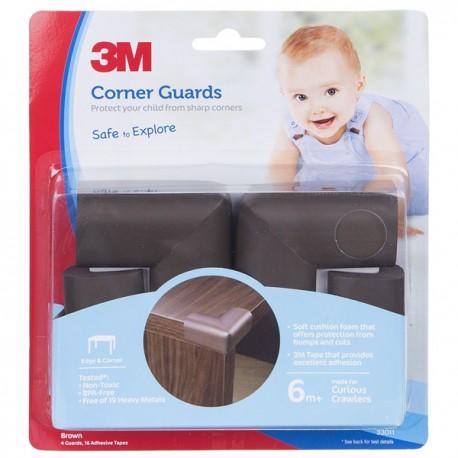 3M SC-31 Child Corner Guard Brown 6/CV - Pelindung Anak dr Cedera Akibat Benturan Tepi Siku Meja dll yg Tajam Jual Murah