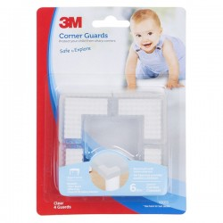 3M SC-33 Child Corner Guard Clear 6/CV - Pelindung Anak dr Cedera Akibat Benturan Tepi Siku Meja dll yg Tajam Jual Murah