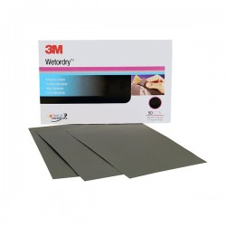 3M 401Q Wet or Dry Paper Sheet grade: P1000, size: 5 1/2 in x 9 in, 50 sheets/sleeve (Amplas)