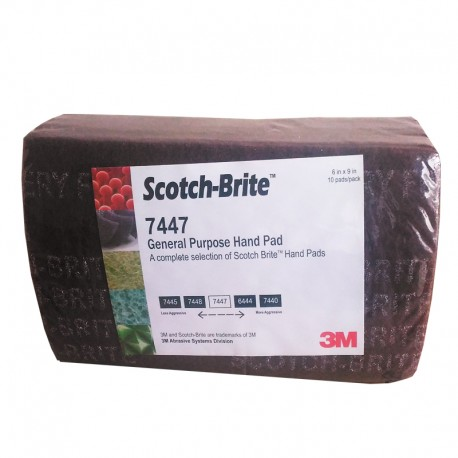 Scotch-Brite™ Maroon General Purpose Hand Pad 7447, 6 in x 9 in (Amplas)