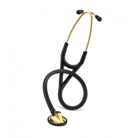 3M Littmann Master Cardiology Stethoscope, Brass-Finish Chestpiece, Black Tube, 27inch, 2175 Stetoskop