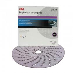 3M Amplas 01820 Purple Clean Sanding Hookit disc 6 in, P80E (50 disc/box) - Jual Kertas Amplas Kering Mobil dg Kualitas Terbaik