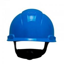 3M Helm Safety Proyek Hard Hat H-703R, Blue Blue 4-Point Ratchet Suspension - 20 EA/Case