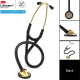 3M Littmann Master Cardiology Stethoscope, Brass-Finish Chestpiece, Black Tube, 27inch, 2175 Stetoskop