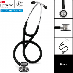 3M Littmann Cardiology IV Stethoscope, Brass-Finish Chestpiece, Black Tube, 27inch, 2175 Stetoskop