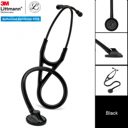 3M Littmann Master Cardiology Stethoscope, Black Chestpiece and Eartubes, Black Tube (OUS only), 27 inch, 2161 Stetoskop