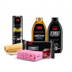 PAKET WASH (3M Premium Car Wipe, Smart Sponge, Car Wash Soap Gold Series, Car Wash Soap Pouch Gold Series)