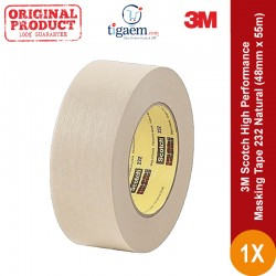 3M Scotch High Performance Masking Tape 232 Natural, 48 mm x 55 m
