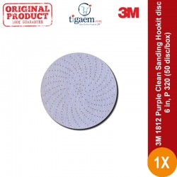 Purple Clean Sanding Hookit disc, 6 in, P 320, 50 disc/box