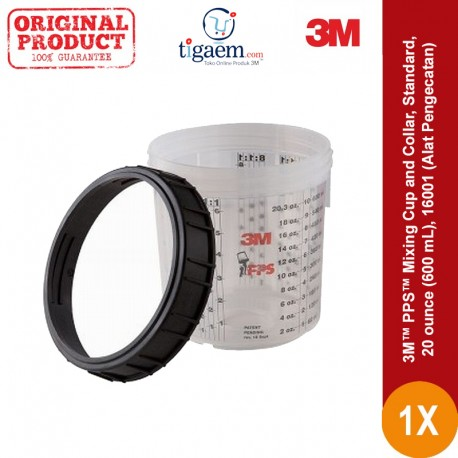 3M™ PPS™ Mixing Cup and Collar, Standard, 20 ounce (600 mL), 16001