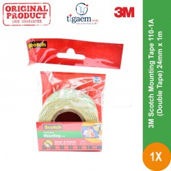 Scotch Mounting Tape 3M 110-1A (Double Tape) 24mm x 1m - Double Tape Terkuat dg Harga Murah (eceran)