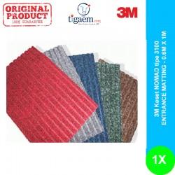 Keset NOMAD tipe 3100 ENTRANCE MATTING - warna RED - 0.6M X 1M (dengan list karet hitam)