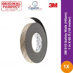 3M 610 Safety Walk (Hitam) - 1 in X 60 ft (18 meter)