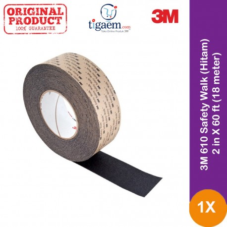 3M 610 Safety Walk (Hitam) - 2 in X 60 ft (18 meter)