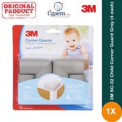 3M SC-32 Child Corner Guard Grey (4 each) - Pelindung Anak dr Cedera Akibat Benturan Tepi Siku Meja dll yg Tajam Jual Murah