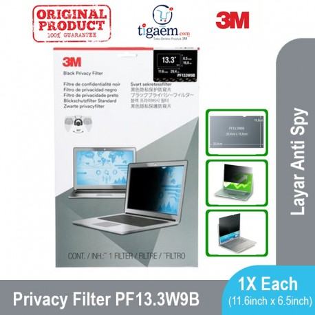 "PF 13.3W9 Notebook Privacy Filters - fits 13.3"" Widescreen (Filter Antispy Laptop)"