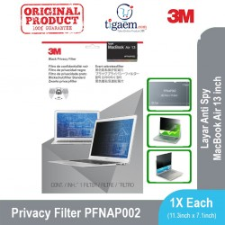 3M Privacy Filter for Apple MacBook Air 13-inch (PFNAP002) Black - Pelindung Layar Anti Spy