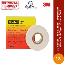 Scotch Tape 27 High Temperature Glass Cloth Tape - 18 mm x 66 ft