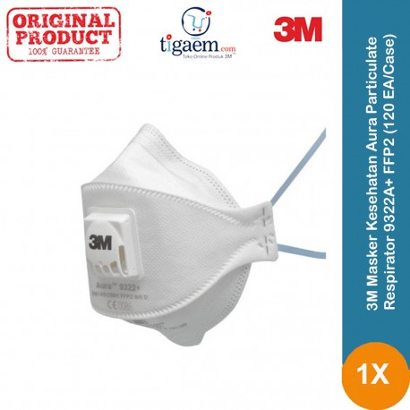 3M Masker 1870+ Aura Health Care Particulate and Surgical Mask - 120 EA/Case