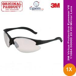 3M™ Virtua™ Protective Eyewear V6, 11684-00000-20 I/O Mirror Lens, Black