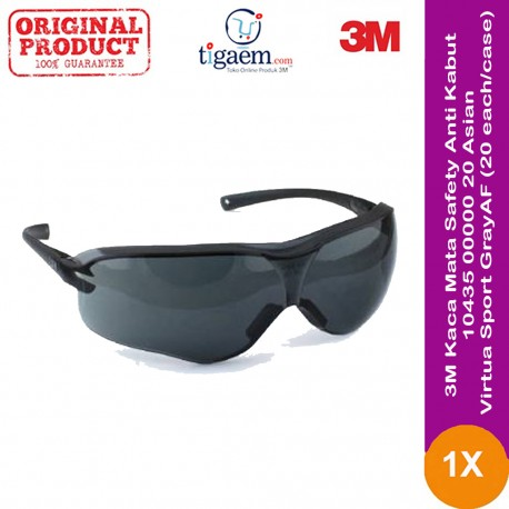 3M Kaca Mata Safety Anti Kabut 10434-00000-20 Asian Virtua Sport Clear 20 each/case