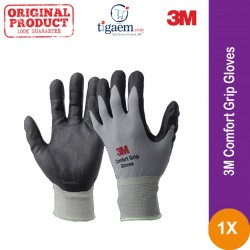 3M Confort Grip Gloves - Sarung Tangan Safety Bahan Kain Katun Cotton Rajut Jual Harga Murah