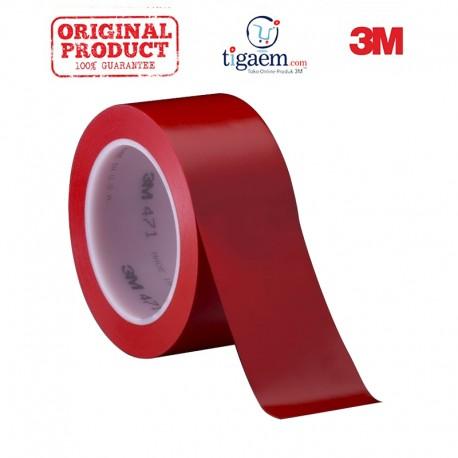 3M Vinyl Tape 471 Red, 2 in x 36 yd, tebal: 0.14 mm
