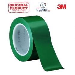 3M Vinyl Tape 471 Green, 2 in x 36 yd, tebal: 0.14 mm