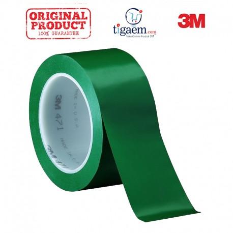3M Vinyl Tape 471 Green, 2 in x 36 yd, tebal: 0.14 mm