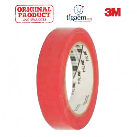 3M Vinyl Tape 764 Red, 1 in x 36 yd, tebal: 0.125 mm