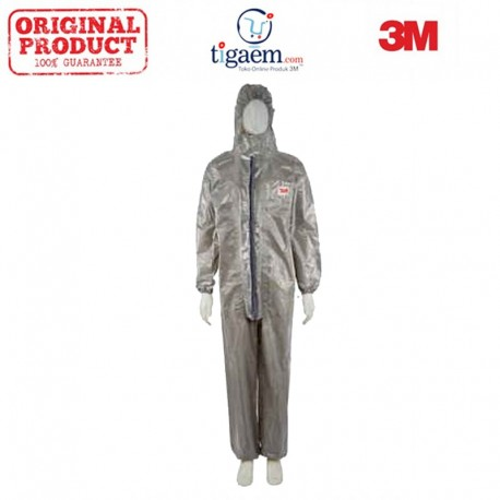 3M 4570 Coverall Type 3/4/5/6 Size M 12/Case - Jas Mantel Keselamatan Kerja (Safety)