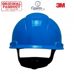 3M Helm Safety Proyek Hard Hat H-703R, Blue Blue 4-Point Ratchet Suspension - 20 EA/Case